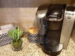 Keurig Coffee Maker (a few K Cups provided)