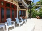 Beach side patio