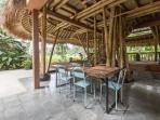 Dining Room under the canopy of the Green Barn