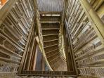Stairs inside the treehouse