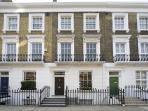Street view of house (district variously called Westminster, Victoria and Pimlico)