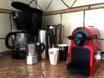 prepara el café a tu gusto. Café aleman, italiano o Nespresso.