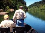 World class fishing on the Umpqua. There is a year round public access boat dock 1 mile from cabin