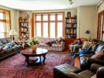 Big living room for hanging out with friends and multi generational family reunions.
