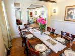 DIning room with fancy china!