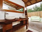 the master bedroom's bathroom