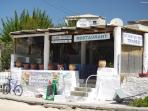 The highly-recommended Taverna Pritzipas on Kalogria beach.