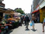 Tachbrook Street market (at far end of our street)