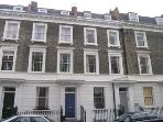 The terrace in which the flat is situated (Moreton Street Triangle, Westminster/Victoria/Pimlico)
