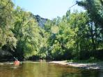 Canoeing on the Cele river or in the Gorges d'Aveyron