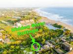 This is us!   Just a 1 minute walk away from the beach in Canggu