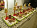 Delicious desserts in our Raw Food Workshops all Gluten an dairy free and no processed sugar...