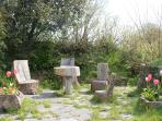 Organic patio and chairs!