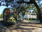 Streetcar on St. Charles Ave...Short 4 block walk from our Condo.