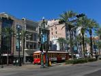 DT Canal Streetcar, steps from French Quarter. 8 minute car ride from Our Condo.