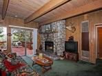 Living Room & River Rock Fireplace