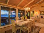 Dining area view to ocean exterior dining lanai