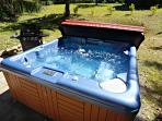 Enjoy the Private Patio with a Propane Gas Grill and Hot Tub
