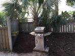 Propane grill located at south end of property