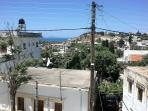 On the roof of the building there is a sundeck with yhe beautiful view of the sea and the Paximadia