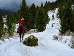 hiking, horse back riding all close by. Weather can change fast in Montana.