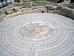 The intricate floor mosaics in villas dating back to the Romans period depicting scenes from Greek m
