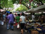 Get fresh produce and discover delectable dishes at the Salcedo Weekend Market