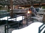 Enjoy 109 degree mineral hot springs in your own private bath surrounded by crystals under the sky.