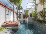 The second pool at Bali Ginger Suites & Villa, next door to Ginger Shikumen Villa.