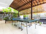 Ping pong table on terrace