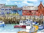 Shari Blaukopf, Canadian artist's Wharf Motif rendition.