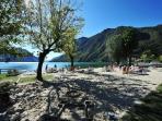 Local beach in Porlezza