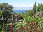 view from the garden of cypryssi cottage