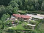 Villa Jonquille - vue aérienne du domaine du Gomm.