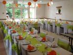 Gite grand Piaf 80 personnes, 4 chambres, 20 couchages, 4SDB, cuisine pro, un vestiaire
