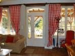 This house has a cosy French cottage feel, which guests love. Original arched windows over look pool