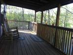 The deck is plenty big enough to enjoy the great view with friends and family!