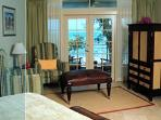 King suite with private balcony, facing Caribbean.