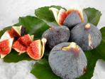 Figs from our fig tree - usually June or July and September