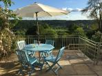 Patio/roof terrace overlooking the Limpley Stoke valley