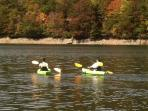 Kayaks and gear included - quick trip to free public access  for Lake Nantahala
