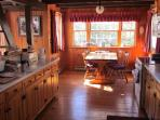 Our Fully stocked Lodge Kitchen