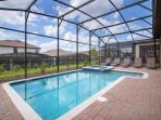 Over Size Lanai and Pool Area w/Spa & Safety Fence