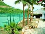 Our private tennis courts in Pedregal