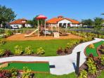 Play area and miniature golf area