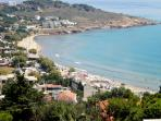 What  a  lovely  view  down  to  karfas  beach  from  the  side  of  the  hill, from  MyView!!!