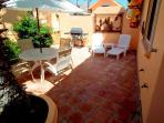 Open air private patio