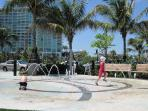 Splash Pad at Pompano Beach - the kids love it! Only minutes away!