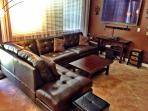 New leather sectional