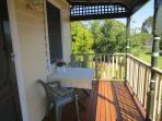 Cosy North-facing deck